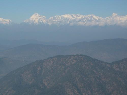 Himilayas from Nainital
