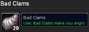 Bad Clams make you angry.