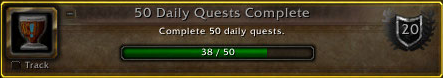 50 Daily Quests Complete