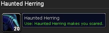 Haunted Herring makes you scared.