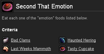 "Eat each one of the ""emotion"" foods listed below."