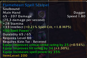 Flameheart Spell Scapel
