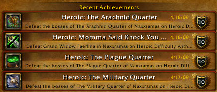 Recent Naxx Achievements