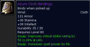 Azure Cloth Bindings