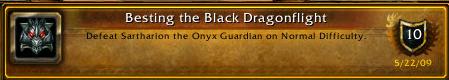 Besting the black dragonflight