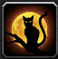 Poly Black Cat Icon