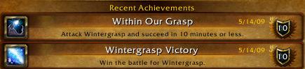 WG Achievements