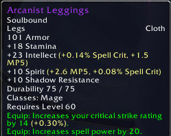 Arcanists leggings
