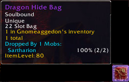 dragonhide bag