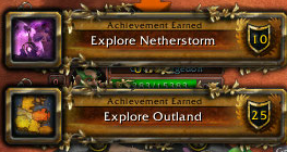 explore netherstorm and explore outland