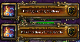 extinguishing outland and desecrating the horde