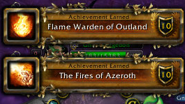 Outland Fire Warden and Fires of Azeroth