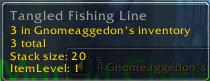 tangled fishing line