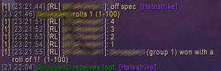 hatestrike roll 1
