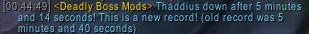 new thaddius record