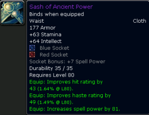 Sash of Ancient Power