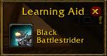 black battle strider