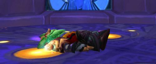 asleep at the portal