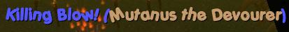 killing blow mutanus