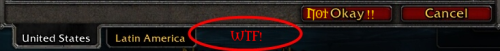 Not OK realm selection