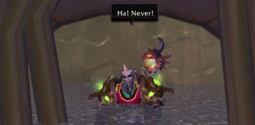 Ha! Never!