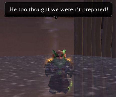 ...he too thought we weren't prepared