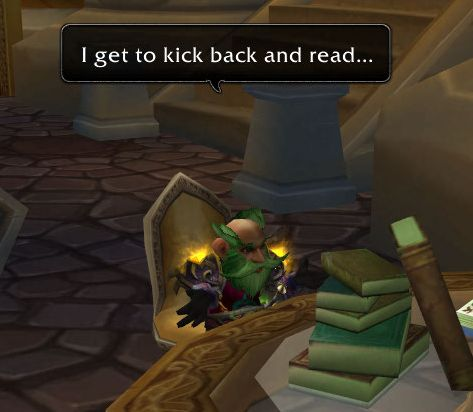 ...I get to kick back and read...