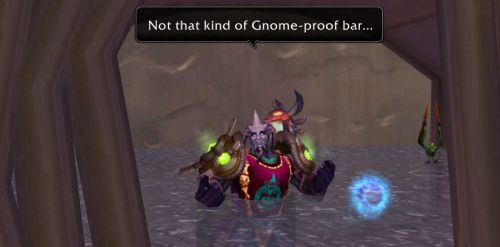 Not that kind of Gnome-proof bar...